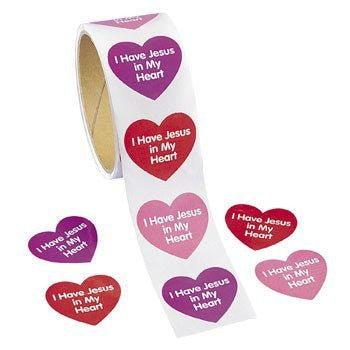 I Have Jesus In My Heart Roll Stickers - Sunday School & Stickers