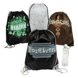 Cool Fun Nylon Tween Religious Drawstring Backpacks