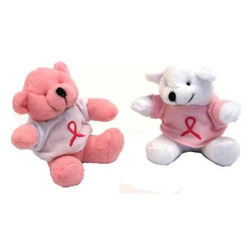 Pink Ribbon T-Shirt Bears : package of 12