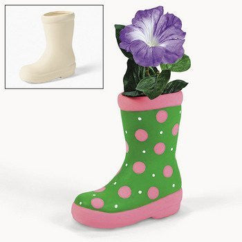 Design Your Own Ceramic Boot Planters - Crafts for Kids & Design Your Own