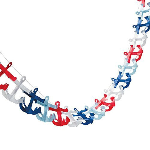 "Nautical Anchor Garland (9 Feet. X 4 3/4"") Paper"