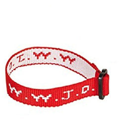 Red Woven WWJD Cloth Bracelet