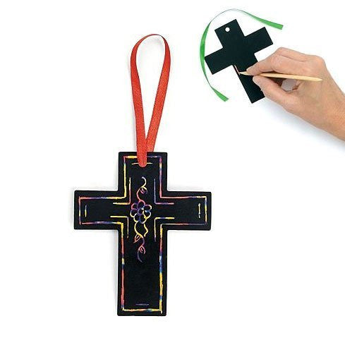 Magic Color Scratch Cross Ornaments (2 dz)