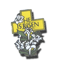 12 He Is Risen Lapel Pins - Easter Gifts