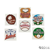 72 Assorted Baseball Theme Tattoos