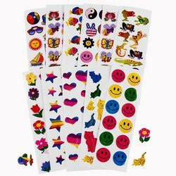 MEGA IRIDESCENT STICKER ASSORTMENT (500 PIECES) - BULK