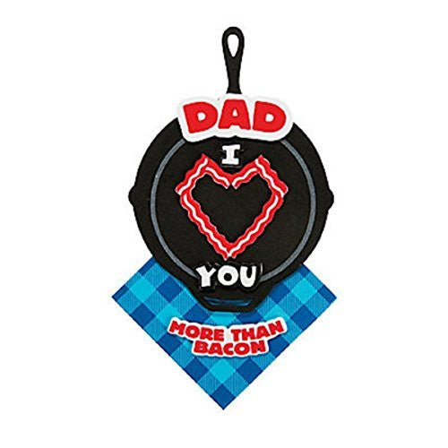 "Red 7"" Dad I Love You More Than Bacon Magnet Craft Kit - Makes 12"