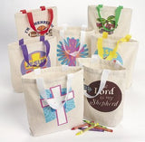 50Pc Religious Canvas Tote Asst. (50 pieces) - Bulk