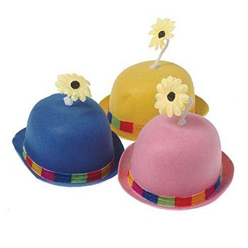US Toy - Flower Bowler Hat (Assorted Colors), 1 Per Package