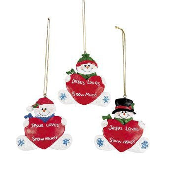Jesus Loves You Snow Much Ornaments - Religious Christmas Supplies & Ornaments