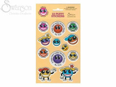 12 Smile Face Puffy Stickers Emoji Themed