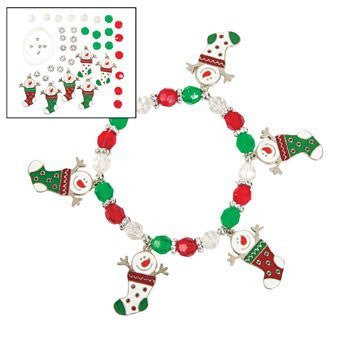 Snowman Stocking Charm Bracelet Craft Kit - Crafts for Kids & Jewelry Crafts