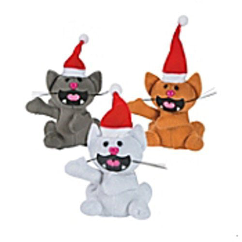 Plush Christmas Cats - 12 Pack