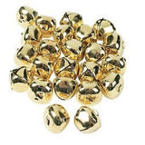 GORGEOUS GOLD JUMBO JINGLE BELLS (144 PIECES) - BULK