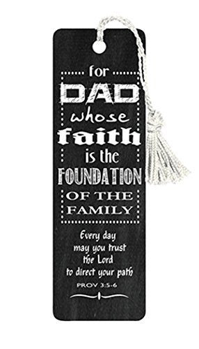 VerseMark Dad's Faith if the Foundation of the Famly Bookmark, 5 Inch, Pack of 6