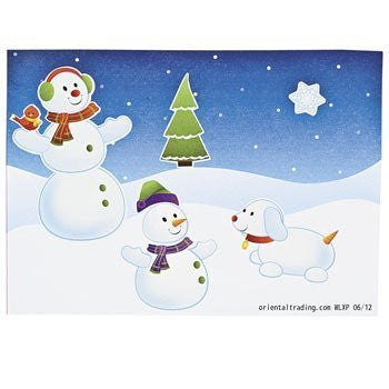Make-A-Snowman Stickers - Stickers & Labels & Sticker Scenes