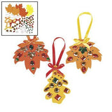 12 ~ Rhinestone Fall Leaf Craft Kits ~ New / Individually packaged