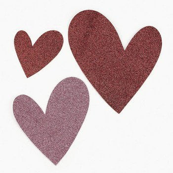 Glittered Heart Decorations - Decorative Accessories