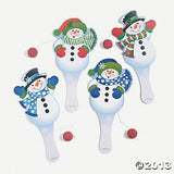 Snowman Paddleball (12 Count)/Party Games/BIRTHDAYS/Goody Bags
