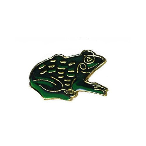 Green Frog Brass Lapel Pin
