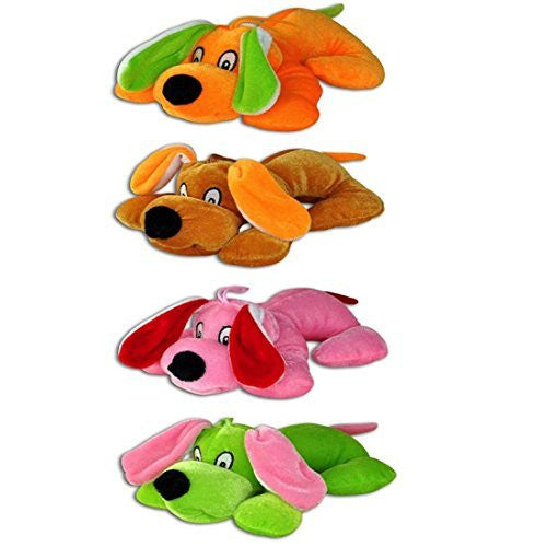 Kipp Cute Neon Plush Puppies Puppy Prizes (12 Pack)