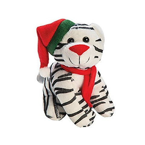 Plush Christmas Kitten With Hat