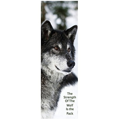 Strength Of The Wolf Inspirational Bookmark
