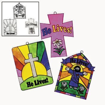 He Lives Sun Catchers - Vacation Bible School & Craft Supplies