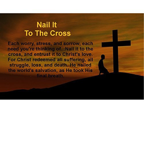 Nail It To The Cross Rectangle Magnet (Pack of 10)