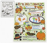 Color Your Own All About Thanksgiving Posters - Teacher Resources & Posters