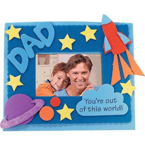 Father's Day Foam Photo Magnet Craft Kit (12 Count)Photo Frame/Gift by Fun Express