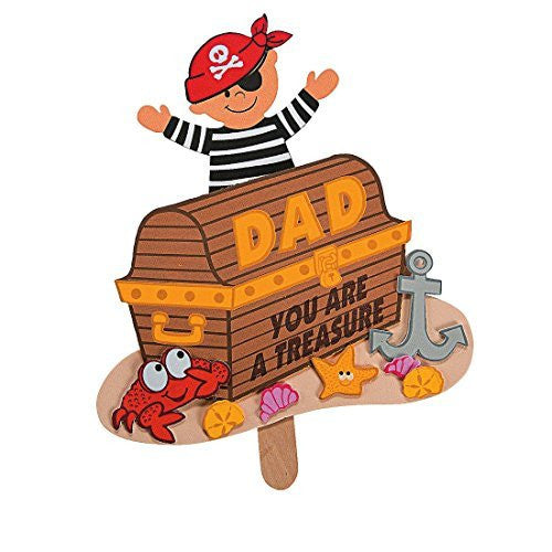 Foam Father's Day Pirate Pop-Up Craft Kit
