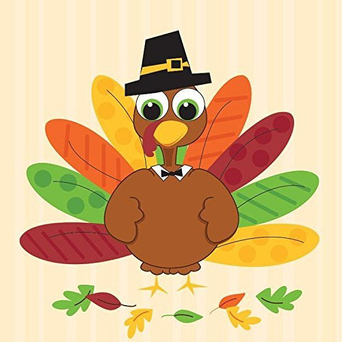 Turkey Fun 2 Ply Beverage Napkins 192ct