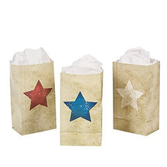 12 Mini Vintage Patriotic Treat Bags