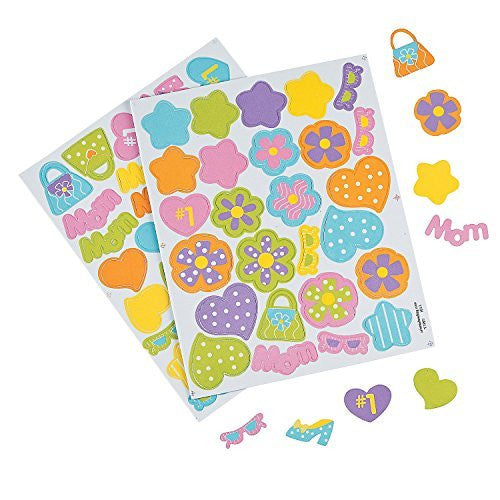 Marvelous Mom Self-adhesive Foam Shapes (500 Pieces)