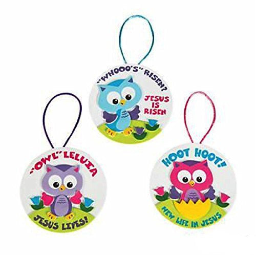 Foam Owl Leluia Easter Ornament Craft Kit
