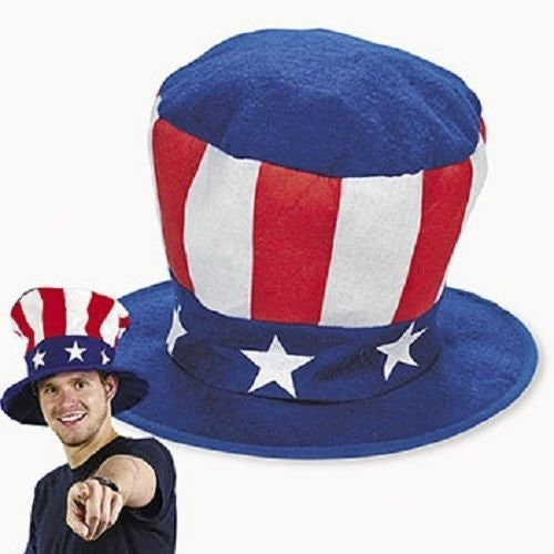 Felt Jumbo Patriotic USA Hat Red White and Blue