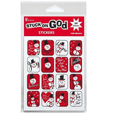 "Dicksons White 2"" Snowman Christmas Sticker Sheets (384 Stickers)"