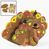 Design Your Own! 3-D Jumbo Turkeys With Stickers - Stationery & Stickers