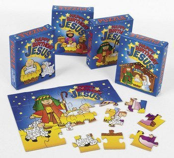 Happy Birthday Jesus Puzzles - Sunday School & Toys & Games