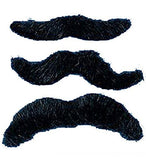 Dozen Synthetic Self Adhesive Mustaches