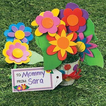 Set of 12 Flowers for Mom Bouquet Kids Craft Kit