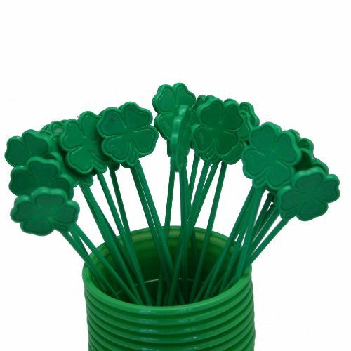 Shamrock Drink Stirrers : package of 25