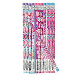 Wooden Owl Valentine's Day Pencils (24 Pack)
