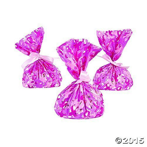 2 Dozen Pink Breast Cancer Awareness Cellophane Bags
