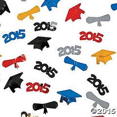2 Packages of Plastic 2015 Graduation Confetti