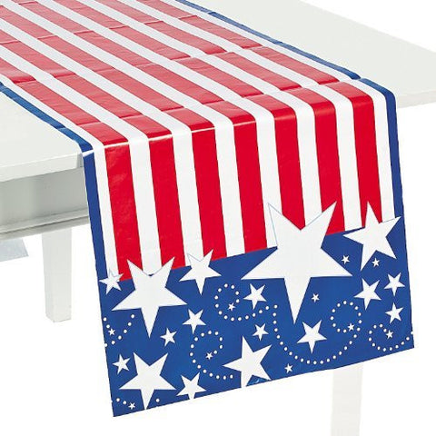 "Patriotic Table Runner 90"" x 17"""