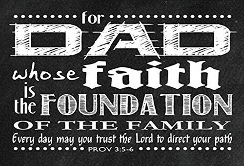 Pass It On Dad's Faith is the Foundation of the Family Cards, 3 Inch, Pack of 25
