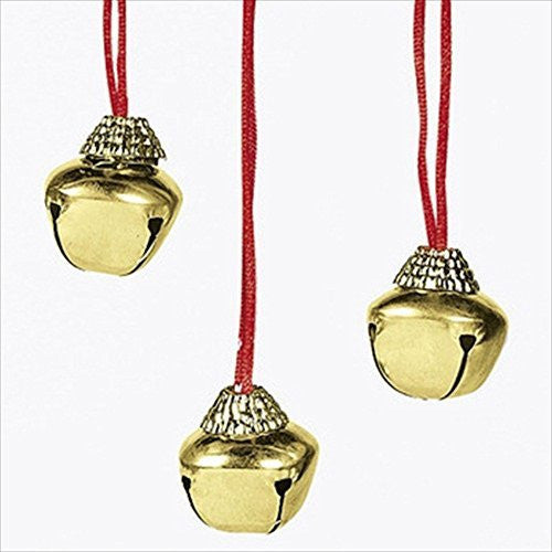 Large Christmas Holiday Jingle Bell Necklaces (12-pack)