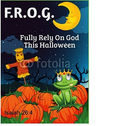 Bulk Halloween Fully Rely On God F.R.O.G. Christian Bible Tracts 100 Count